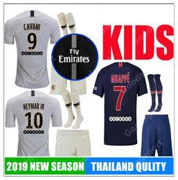 931991e95 Kids 2019 MBAPPE jersey youth NEYMARJR CAVANI DANI ALVES jerseys DI MARIA  VERRATTI football shirt T SILVA children soccer calcio TOP