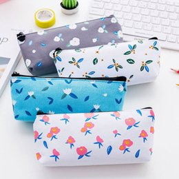 Cute Canvas Handbags Australia - Coin Pouch Fashion Flower Cosmetic Makeup Cute Canvas 1PC Handbags Hot Sale Zipper Bag Purse Pencil Pen Case