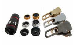 Discount macro zoom camera - 4 in 1 Universal Clamp Camera Lens + Wide Angle Lens + Macro + 10x Optical Zoom Clip Telephoto Clamp Clip camera cat eye