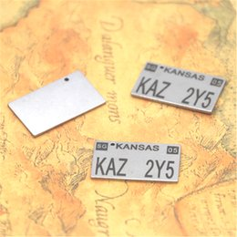 Chinese  5pcs - KAZ 2Y5 Charm Tibetan Silver Supernatural license Plate Charm pendants 25x15mm manufacturers