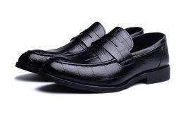 Pointy black dress shoes men online shopping - New Fashion Spring Autumn Men Formal Wedding Shoes Black Men Business Dress Shoes Men Loafers Pointy Shoes