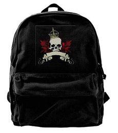 $enCountryForm.capitalKeyWord NZ - Watercolor Skull Headdress Canvas Backpack Travel Rucksack Backpack Daypack Knapsack Laptop Shoulder Bag