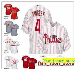 43c3707f5 2019 custom Men s Women Youth Majestic Phillies Jersey  2 JP Crawford 4  Scott Kingery Home Red Grey White Kids Girls Baseball Jerseys