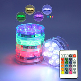 glass tank bong 2019 - 50pcs Mini Waterproof LED lights with remote control for glass bongs oil rigs hookah and shisha water pipe fish tank flo
