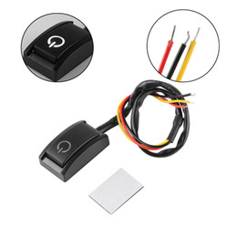 Car push buttons online shopping - 1 Car DIY Switch Paste Type Button Switch OFF ON DC V mA Car Push Button Latching Switch