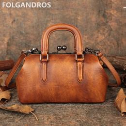 d46ca0abff77 2018 Women s Handbag Designer Handmade Italy Genuine Leather Shoulder  Messenger Bag Vintage National Style Evening Bags Bolsa