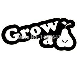 $enCountryForm.capitalKeyWord Australia - HotMeiNi Wholesale 20pcs lot Grow A Pear Funny Gw251 3x6 Vinyl Window Decal Car Truck Stickers JDM Euro For Wall AutoLaptop Mirror Boat