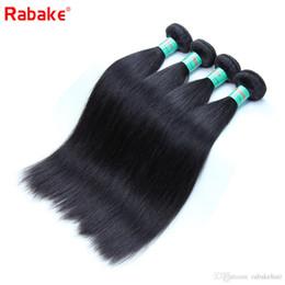 $enCountryForm.capitalKeyWord Australia - Straight Brazilian Virgin Human Hair Bundles Rabake 8A Silky Straight Brazilian Wet and Wavy Hair Wefts Deals Natural Black 8-28 inch DHL