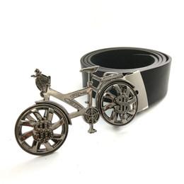 $enCountryForm.capitalKeyWord Canada - Mens Clothing Accessories Black Leather belt men with 3D Bicycle Rotating US dollars Wheel Bi buckle metal Belts for men
