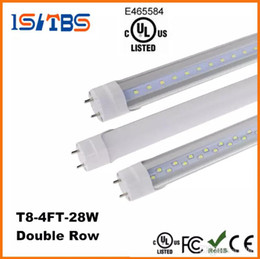 tube lights wholesale NZ - High quality LED T8 Tube 4FT 22W 28W SMD2835 192LEDS Light Lamp Bulb 4 feet 1.2m Double row 85-265V stock in US