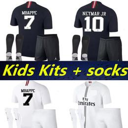 Kids Kits + socks 2019 third PSG maillot MBAPPE champion league soccer  jersey CAVANI VERRATTI 18 19 football shirt KIT Camiseta de futbol ed4559438