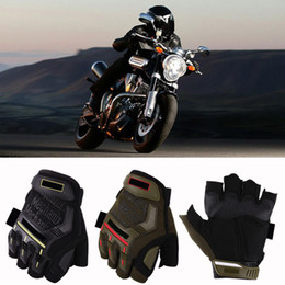 army gloves 2019 - Motorcycle Gloves Waterproof Motocross Outdoor Sports Cycling Racing Riding Half Finger Protective Gears Moto Guantes Lu