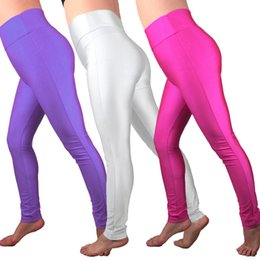 55876ae4a5985 Women Yoga Pants Fitness Breathable Tight Leggings Elastic Sporting Running  Workout Neon Solid Color Quick Dry Sport Pants 0.2