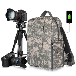 Dslr Cameras Bags Australia - New Outdoor Camera Backpack Waterproof DSLR Camera Bag With 15.6'' Laptop Pocket Tripod Belt Camera Drawer USB Charging Station.