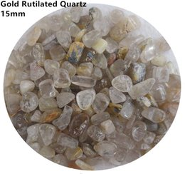 $enCountryForm.capitalKeyWord Canada - C16 15mm Natural Titanium Golden Yellow Rutilated Hair Crystals Quartz Stone Chips Gemstone