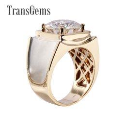 Discount yellow gold engagement ring designs - 3 Carat Solid 585 Gold Classic Men's Ring Subtle Genuine Moissanite Engagement Ring For Men Popular Design Ring Fas