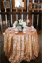 $enCountryForm.capitalKeyWord NZ - Custom Size Sparkly Sequin Table Cloth Garden Wedding Party 2019 new charming Sequins Cake Table Cloth