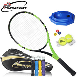 $enCountryForm.capitalKeyWord Canada - CROSSWAY 1PC Tennis Racket High Quality Carbon Fiber Racquets Amateurs Training fitness outdoor sports equipment bag ball 880
