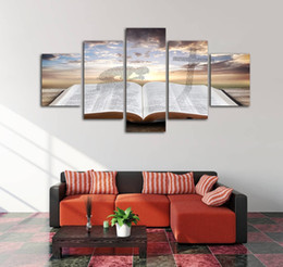 home decoration canvas prints Australia - Home Wall Art Decoration Frameless Modular Pictures HD Print 5 Pieces Painting Book And Abstract People Canvas Poster and Prints
