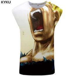 wholesale army clothes 2019 - KYKU Brand  Z Tank Top Women Goku Ftness Yellow Hair Ladies Tops Roar Plus Size Woman Clothes Summer Top cheap wholesale