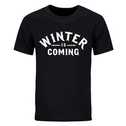 fire printed t shirts NZ - summer fashion man short sleeve T-shirt cotton printing sitcoms song of ice and fire winter is coming crew neck casual tops tees DIY-0765D