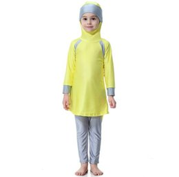 MusliM costuMes online shopping - Muslim Arab Girls Modest Swimwear Kids Swimsuit  Islamic Swimming Costume 9fcbc2c4a45d
