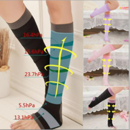 2ef99f3d5f Women Slim Leg Sleep Compression Socks Spider Varicose Veins Thigh High  Solid