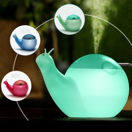 ultrasonic humidifier water bottle NZ - Snail Air Humidifier 550ML Large Capacity Ultrasonic USB Diffuser Night Light Mini USB Humidifier Water Spray Bottle