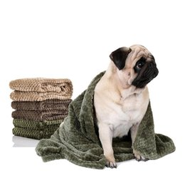 $enCountryForm.capitalKeyWord UK - Flannel Absorbent Pet Supplies Towel Dog Bath Towels Blanket Carpet Quick Dry Towel Bathrobes For Puppy Cat Coffee Beige Green