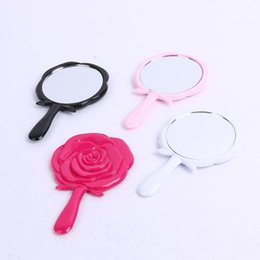 $enCountryForm.capitalKeyWord Canada - Hot Sale Cute Girl Mini Portable Pocket Compact Mirrors Flowers Rose Cosmetic Makeup Mirrors