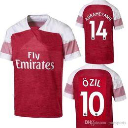 fb5f46433c0 2018 2019 Arsenal Gunners OZIL AUBAMEYANG adult soccer jersey ALEXIS  WILSHERE GIROUD LACAZETTE CHAMBERS XHAKA 18 19 mens football shirt