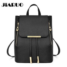 dfc19e9739d8 Sky college bagS online shopping - JIARUO Leather backpack drawstring  closure backpack for women Ledies Student