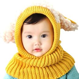 Knit bunny hat online shopping - Lovely Kids Fashion Hat Children Cute Knitted Hat Cloak Scarf Trendy Earflap Bunny Ears Sleeve Cap Earflap Winter Warmer months