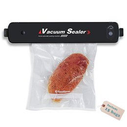 $enCountryForm.capitalKeyWord Australia - EU US plug Household mini vacuum food sealer machine food saver Automatic Vacuum Packing Machine with 15pcs Sealer Bags.