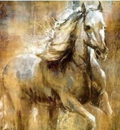$enCountryForm.capitalKeyWord NZ - Pure Handpainted & HD Art Print Modern Abstract Animal Art Oil Painting white horse,On High Quality Canvas,Home Wall Decor Multi size a02