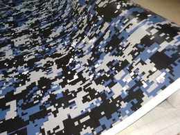 Motor body stickers online shopping - Impressive digital blue Small print Camo Vinyl For Car Wrap With air bubble Free Printed Camouflage Motor Car wrapping stickers x30m