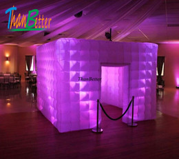 Wholesale ThanBetter Custom Multi-color Inflatable Photo Booth Inflatable Cube With LED Light