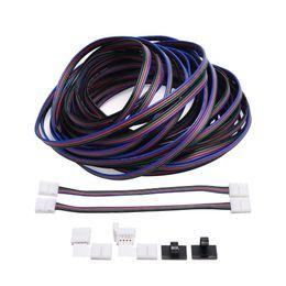 $enCountryForm.capitalKeyWord Australia - RGB Cable 4 pins Extension cord Cable for 5050 3528 LED Light Strip 10m 32.8ft LED Splitter connectors kit 4 Color