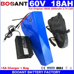 Motor Bicycles Australia - BOOANT 60V 18AH Triangle E-bike Lithium Battery 1500W Motor For Original 18650 cell Electric Bicycle Battery 60V free Shipping