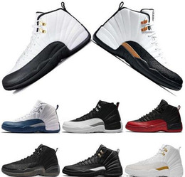 cherry cushion 2019 - New Cheap 12s Classic 12 french gamma blue basketball shoes taxi black nylon wings flu game 12s US8-13 rising sun cherry