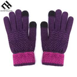 China Evrfelan Women Men Touch Screen Winter Gloves Warm Gloves Solid Color Cotton Warmer Smartphones Driving Glove Cheap Handwear supplier cheap screens suppliers