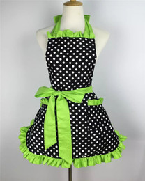 Cute aprons poCkets online shopping - Cotto Xiumood Fashion Sexy Aprons Cotton Cute Bib White Dots Kitchen Cooking Women Apron Dress With Pocket Gift Korean