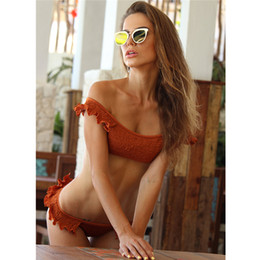 db48d1b0b641a Kmnovo 2018 Bikini Set Sexy Swimwear Swimsuit Bathing Suit Women Pleated  Bikini Hot Monokini Solid Dropshiping Beach Wear