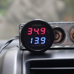 $enCountryForm.capitalKeyWord Australia - 2 In 1 DC 12V 24V Digital Car Voltmeter Thermometer Temperature Meter Battery Monitor Red Blue Led Dual Display