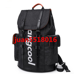 Wholesale Fashion Water Ripple Red   Black School Bag New Style Student Backpack For Women Men Backpack Schoolbag travel bag