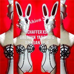$enCountryForm.capitalKeyWord Australia - EC82 Singer stage party wears bodysuit dj perforamance jumpsuit bar pole dance costumes mask head piece models outfits clothe ds dress skirt