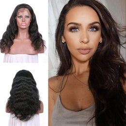 $enCountryForm.capitalKeyWord Australia - Wholesale Cheap 130% Brazilian Lace Front Wigs Body Wave Virgin Human Hair 10-24inch Full Lace Wigs Natural Color In Stock G-EASY