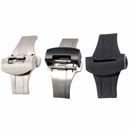 $enCountryForm.capitalKeyWord UK - Watchband 20mm 22mm New High Quality Brushed Stainless Steel Solid Watch Band Deployment Clasp Strap Belt Clasps for PAM