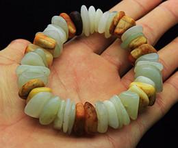 Old Chinese Jade Pendants Australia - Chinese natural ancient old hetian jade jadeite handcarved pendant bracelet