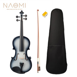 Bow rosin online shopping - NAOMI Acoustic Violin Violin Full Size For Students Beginners Bow Case Rosin Violin SET New
